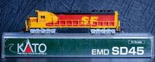 "Kato N Scale EMD SD45 SF #5348 ""Kodachrome"" Locomotive - DCC"