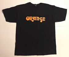 Orange Amplifiers Black Logo T-Shirt Mens X-Large Promotional Short Sleeve Shirt