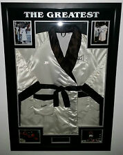 *** Rare MUHAMMAD ALI SIGNED ROBE GOWN Autograph Display*** AFTAL DEALER