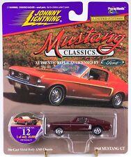 Johnny Lightning Mustang Classics #12 1968 GT Burgundy 1997 MOC