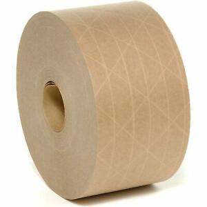 Brown Reinforced Gummed Water Activated Tape 70mm x 100m Tamper Evident Strong