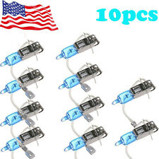 10-Piece H3 6000K Xenon Gas Halogen Headlight White Light Lamp Bulbs 55W 12V Hot
