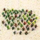 100Pcs Colorful Flowering Plants Railway Park Garden Scene 1:100 HO Scale
