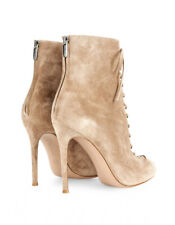 Gianvito Rossi Suede open-toe, lace-up ankle boots