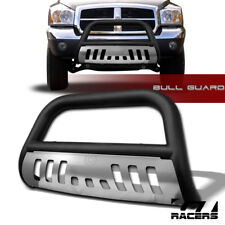 MATTE BLK 2005-2011 DODGE DAKOTA BULL BAR BRUSH BUMPER GRILL GRILLE GUARD w/SKID