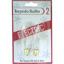 120 Pk Clear 5W Torpedo Christmas Tree Bulb @ 2/Pk 1408-02