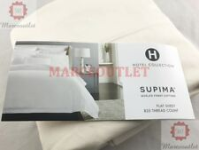 Hotel Collection 825 Thread Count Supima Cotton QUEEN Flat Sheet Ivory