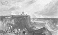 Kent England, FOLKESTONE CASTLE PORT HARBOR BOATS ~ Old 1875 Art Print Engraving