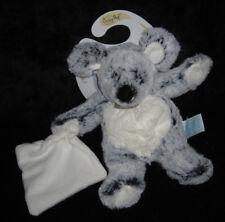 Doudou Souris gris chiné noir carré blanc Les Flocons Babynat' Baby Nat' BN052