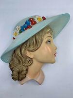 CERAMICA MAGRI maschera DONNA da parete 1940 1950 vintage