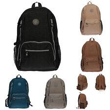 Damen City Rucksack Bag Nylon Tasche Schwarz Grau Braun Grau UNI Freizeit NEU