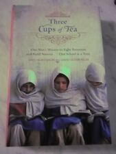 THREE CUPS OF TEA by Greg Mortenson SIGNED  1ST(10)/DJ VGC