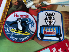 TWO Hamms Beer Patches 3 1//4 x 2 1//4 Sew On vintage Breweriana Sealed Back NOS