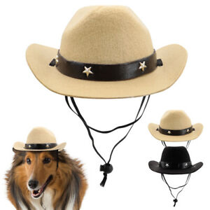 Pet Dog Cowboy Hat Funny Costumes Western Holiday Party Outfit Cap Accessories