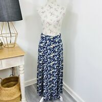 Vintage 90s Just Jeans Womens Maxi Dress Floral Button Front Size 6 - 8