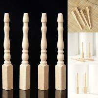 4PCS Cabriole table legs dollhouse miniature  1/12 scale wood