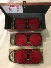 VINTAGE VARI REFLECTOR-FLARE WINDPROOF WITH RARE RED METAL CASE, SET OF 3