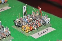 15mm medieval / english - men at arms 12 figs - cav (56617)