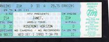 1994 Janet Jackson unbenutzt Full Concert Ticket Janet Weltreise Rosemont IL