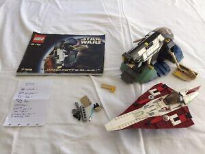 Lot LEGO Star wars Episode 2 Jango Fett's Slave 1 & Obi-Wan Starfighter