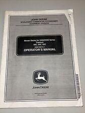 John Deere Mower Deck 48C 54C 62C X400/X500 Tractor Operator Manual Omm146676 L1