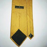 """Ermenegildo Zegna Mens Tie 100% Silk Yellow Gold Geometric Luxury Sheen 58"""""""