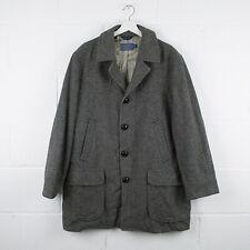Vintage PENDLETON Tweed Grey Wool Coat Size Mens XL XLarge /R37045