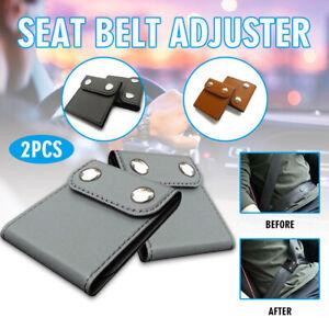2x Auto Sicherheitsgurt Einsteller, Hals Schutz Autogurt, Gurt Adapter Clips