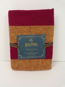 Pottery Barn Kids Harry Pottery Striped Duvet Standard Sham Red Gold #6379