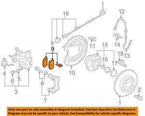 VW VOLKSWAGEN OEM 10-17 Jetta Brake-Rear Pads 5K0698451C