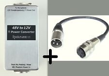 P48/T12 PHANTOM to T-POWER CONVERTER + Tuchel Adapter Sennheiser MKH416 405 406T