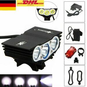 AKKU LED Fahrradbeleuchtung Fahrrad Scheinwerfer Fahrradlicht Fahrradlampe Sport