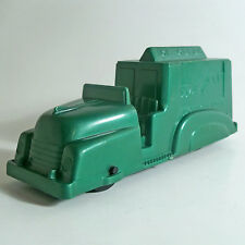VINTAGE HTF MARX TOYS FRICTION HARD PLASTIC GREEN ICE CREAM TRUCK 1950's WORKS