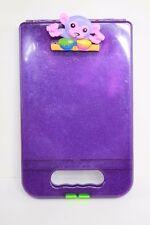 LISA FRANK storage case Hard CLIP BOARD lap board art box Purple MONKEY
