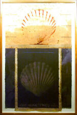 "Scott Sandell ""Club Montauk"" Hand Signed Mixed Media Art, seashells MAKE OFFER!"