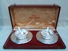 coffret duo tasses sous-tasses et petite cuillères chocolat ou thé saint médard