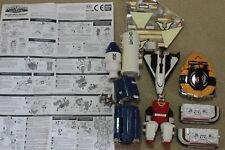 bandai power rangers space deluxe mega voyager complete set transformer robot