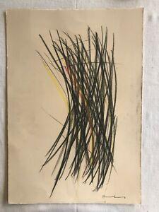 HANS HARTUNG - Pastel on original paper of 1950's