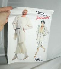 Vogue Patterns Individualist ADRI 1820 Womens Size 8 Cut 1986 Butterick Vintage