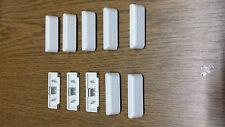 10 Stck. Schüco Entwässerungskappen/Wasserkappen für Kunststofffenster  WEISS