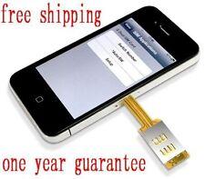 KIWIBIRD Q SIM DUAL SIM CARD 2 CARD DOUBLE CARD CHIP CARD CASE FOR I PHONE 4 4S