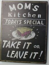 Iron Tin Metal Sign Home Moms Kitchen Today special recipe Decor wall art 88703