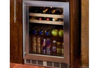 """Perlick 24"""" Indoor Beverage Center Stainless Steel Glass Door #HP24BS-3-3R"""