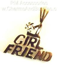 #1 Girlfriend Charm / Pendant EP Gold Plated with a Lifetime Guarantee