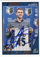 COLE ALDRICH MINNESOTA TIMBERWOLVES SIGNED CARD ROCKETS KNICKS CLIPPERS THUNDER