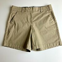 "NWT TOMMY HILFIGER Flat Front Casual Shorts COBBLESTONE 7"" Inseam Women's Size 6"