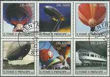Timbres Ballons Dirigeables St Thomas et Prince 1632/7 o année 2003 lot 12979