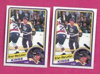 2 X 1984-85 OPC # 87 KINGS BRIAN MACLELLAN  ROOKIE NRMT-MT CARD (INV# A8321)