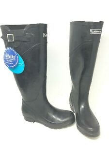 NEW!!! Women's Puddletons Classic Tall Natural Rubber Boots PC100 Black W103 ss