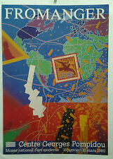 AFFICHE ANCIENNE FROMANGER CENTRE GEORGES POMPIDOU 1980